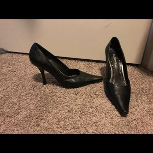 Black pointed BCBG heels
